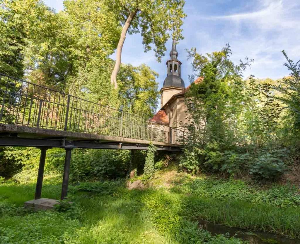 Geisel unterhalb der Schlosskirche
