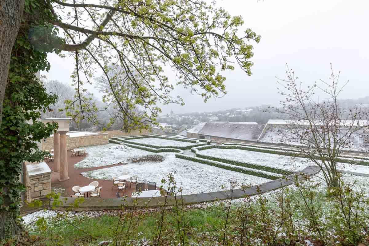 Barockgarten zum Wintereinbruch