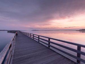 Bild 0009 | Seebrücke zum Sonnenaufgang