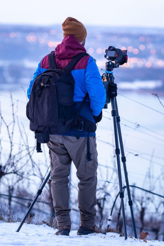 Denis fotografiert den Ausblick